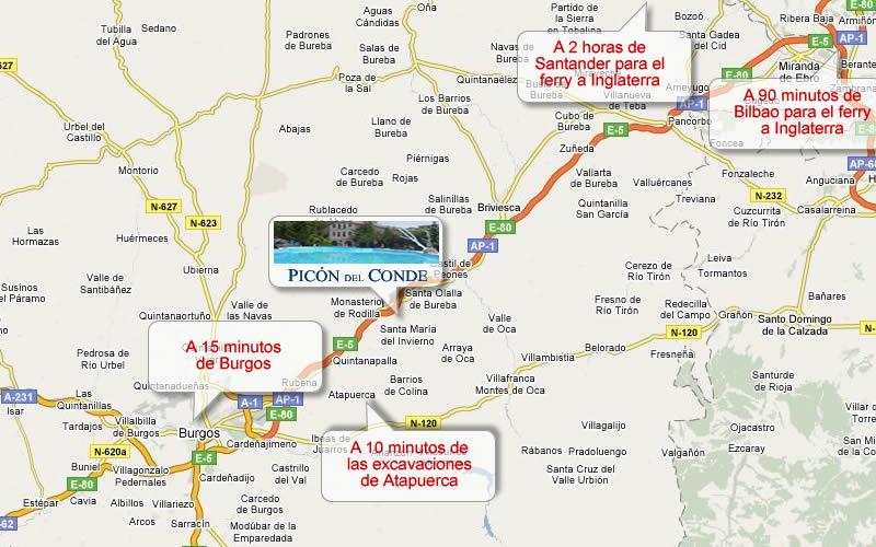 Ubicaci n de motel picon del conde en la provincia de for Ministerio del interior ubicacion mapa
